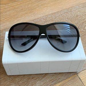 CHRISTIAN DIOR Black Diorissime Strass Sunglasses